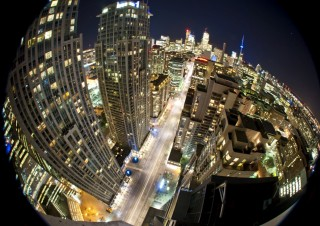 Fisheye downtown